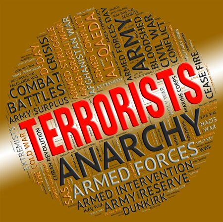 hijacker: Los terroristas Palabra Significado Freedom Fighters y radicales Foto de archivo