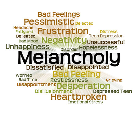 dejection: Melancholy Word Meaning Low Spirits And Dejection