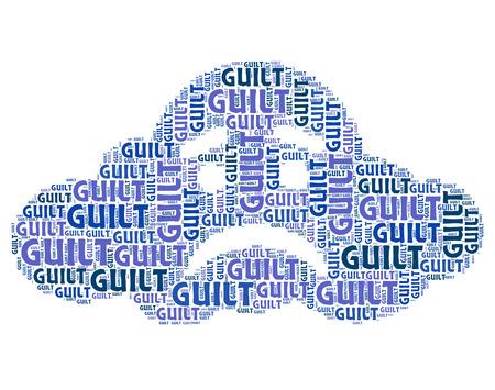 arrepentimiento: Palabra culpa Indicando auto condenaci�n y Culpable