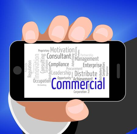 commerce: Commercial Word Representing Commerce Ecommerce And Sell Stock Photo