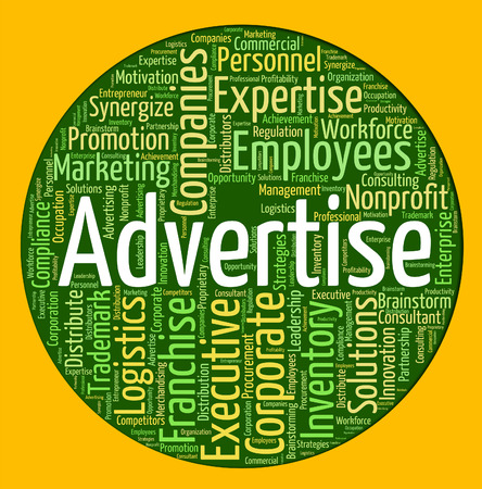 advertise: Advertise Word Meaning Promotion Promoting And Ads