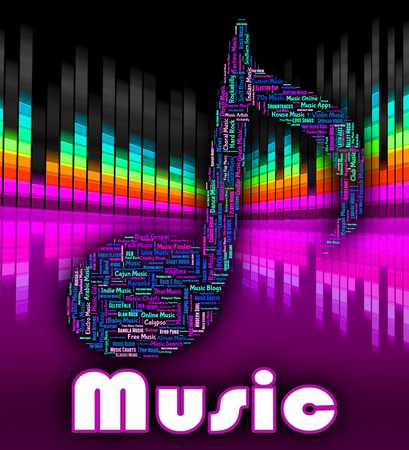 melodies: Music Word Indicating Sound Tracks And Harmonies Stock Photo