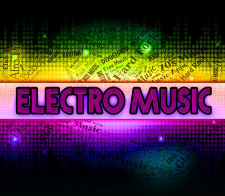 funk music: Electro Music Meaning Electronic Dance And Song Stock Photo