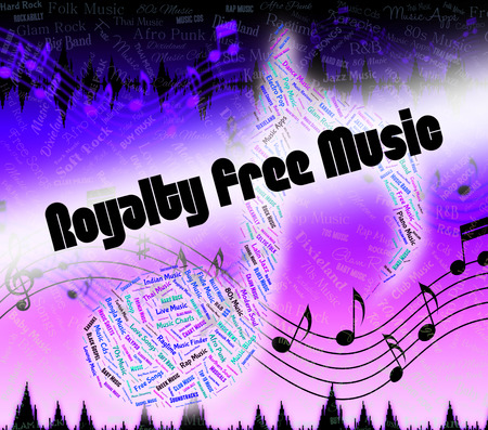 copyrighted: Royalty Free Music Representing Sound Track And Royalties