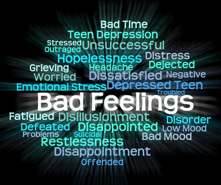 hatred: Bad Feeling Meaning Ill Will And Hostility Stock Photo
