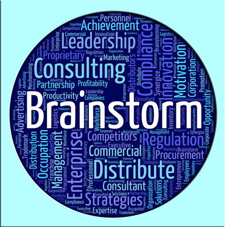 conceive: Brainstorm Word Meaning Put Heads Together And Dream Up