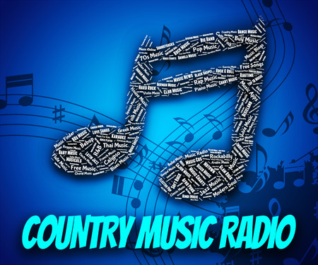 c a w: Country Music Radio Indicating Sound Tracks And Country-And-Western Stock Photo