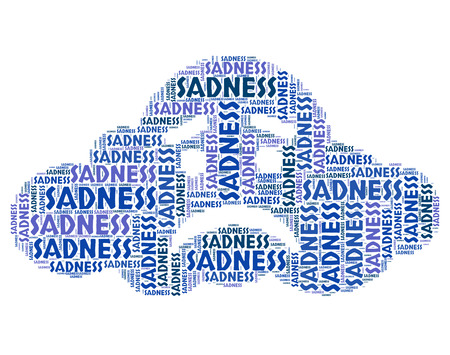 despairing: Sadness Word Representing Grief Stricken And Wordcloud