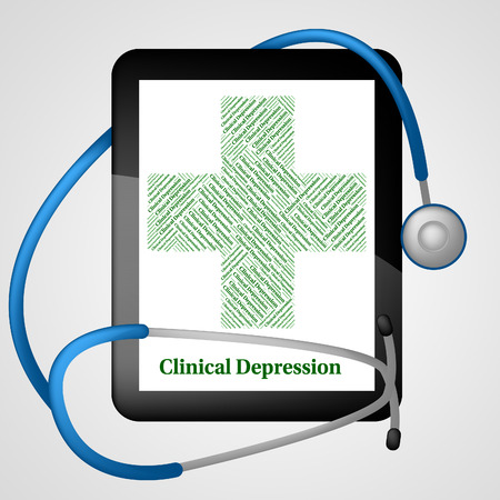 afflictions: Clinical Depression Indicating Depressive Disorder And Disease Stock Photo