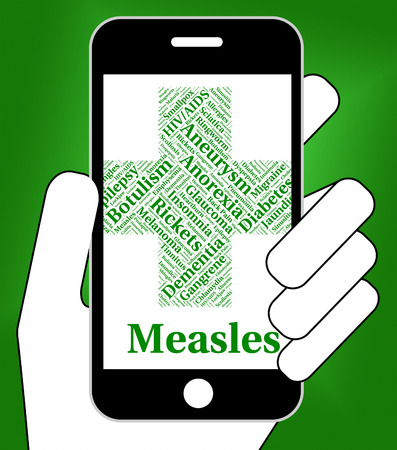 measles: Measles Illness Indicating Poor Health And Virus