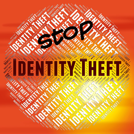 Stop Identity Theft Indicating Hold Up And Misappropriation