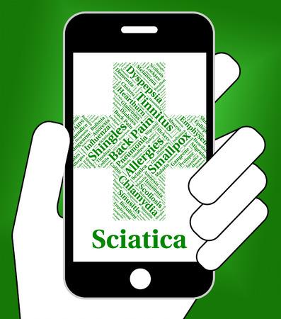 sacral nerves: Sciatica Illness Representing Poor Health And Nerve