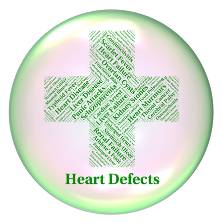 Heart Defects Showing Affliction Hearts And Failings Stock Photo