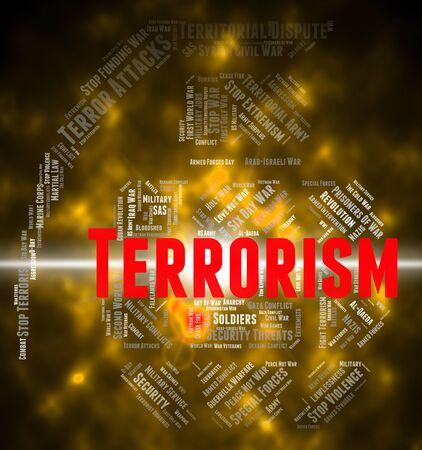 guerrilla: Terrorism Word Representing Freedom Fighter And Text Stock Photo
