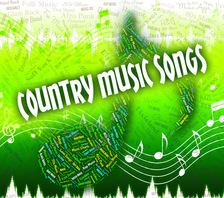 country music: Country Music Songs Darstellen Sound Track und Audio