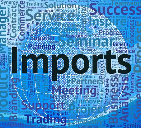 commodities: Importaciones Palabra Mostrando comprar en el extranjero y Negocios