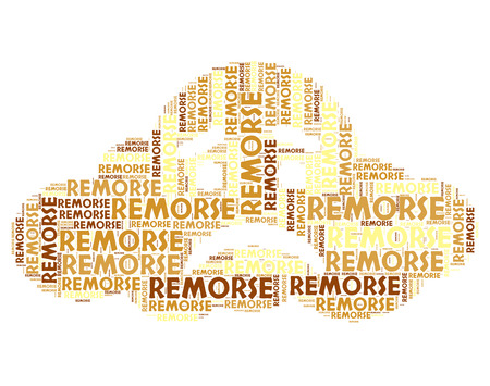 remorse: Remorse Word Meaning Self Accusation And Sorrow Stock Photo