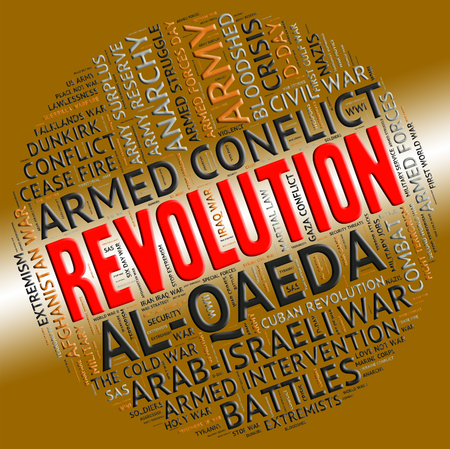 Revolution Word Showing Coup Détat And Rioting Stock Photo