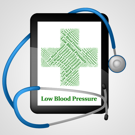 afflictions: Low Blood Pressure Showing Ill Health And Infection