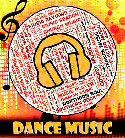 musique dance: Dance Music Representing Sound Tracks And Melody