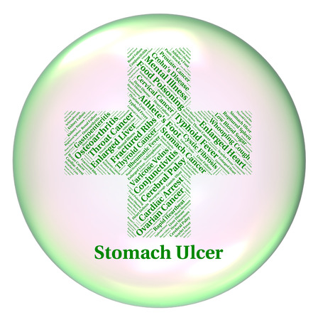 indisposition: Stomach Ulcer Indicating Ill Health And Vesication