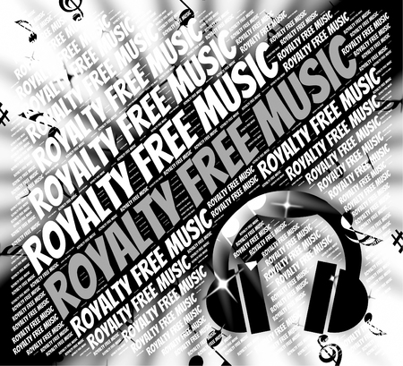 royalty free: Royalty Free Music Indicating Sound Tracks And Copyrighted