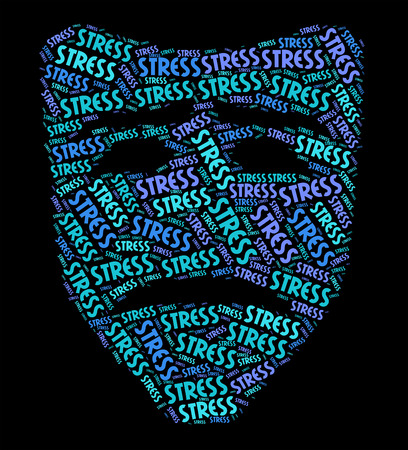 pressured: Stress Word Showing Pressures Text And Stressing