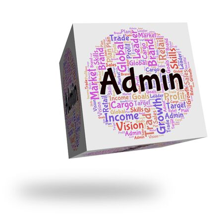 governing: Admin Word Showing Direction Administering And Text