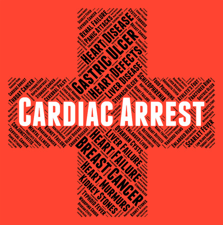 Cardiac Arrest: Cardiac Arrest Representing Congestive Heart Failure And Heart Attacks Stock Photo