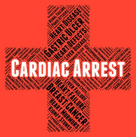 cardiac arrest: Cardiac Arrest Representing Congestive Heart Failure And Heart Attacks Stock Photo