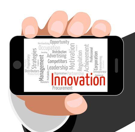 new idea: Innovation Word Representing New Idea And Metamorphosis Stock Photo