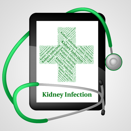 ulceration: Kidney Infection Representing Ill Health And Indisposition Stock Photo