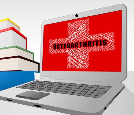 artrosis: La osteoartritis Palabra Mostrando enfermedad degenerativa articular y mala salud