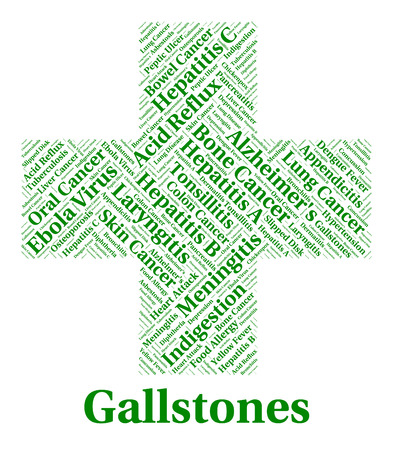 gallstones: Gallstones Illness Representing Poor Health And Infections