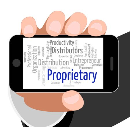 owned: Proprietary Word Representing Text Words And Copyright