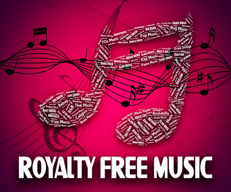 royalty free: Royalty Free Music Indicating Sound Track And Melody Stock Photo