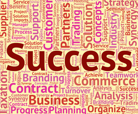 succeed: Success Word Showing Succeed Winning And Words Stock Photo