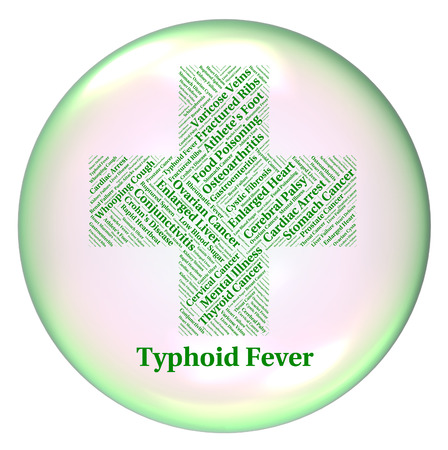 symptomatic: Typhoid Fever Representing Symptomatic Bacterial Infection And Salmonella Typhi