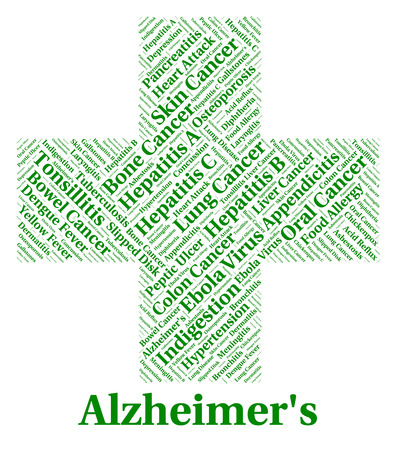 afflictions: Alzheimers Disease Representing Mental Deterioration And Afflictions