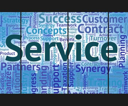 service desk: Service Word Representing Help Desk And Words Stock Photo