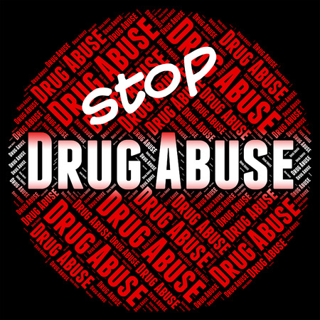 harm: Stop Drug Abuse Showing Hurt Dope And Harm Stock Photo