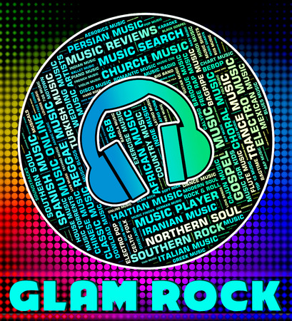song: Glam Rock Showing Sound Track And Song
