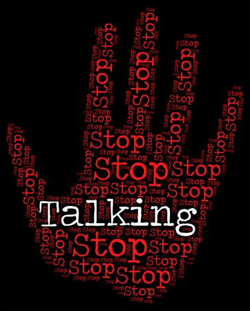 prohibido: Deja de hablar Señal Significado Advertencia y prohibidos