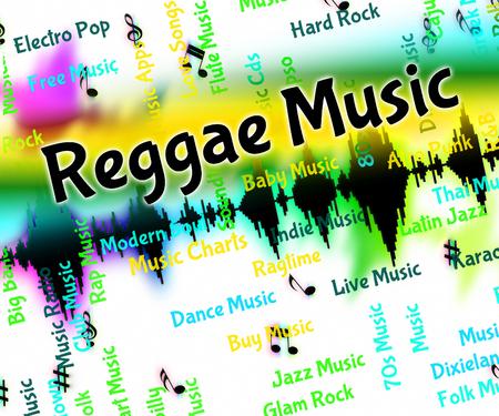 reggae: Reggae Affichage Sound Track Et Melody