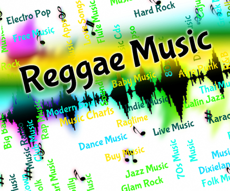 reggae: Reggae Music Showing Sound Track And Melody Stock Photo