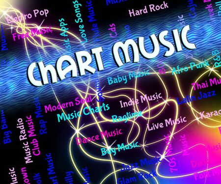 ten best: Music Charts Indicating Best Seller And Harmony
