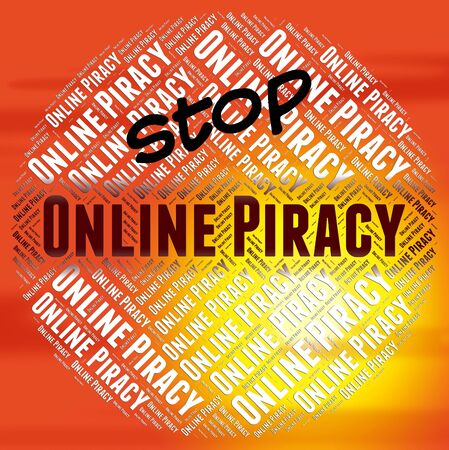piracy: Stop Online Piracy Representing Warning Sign And Patented Stock Photo