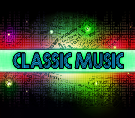 masterly: Classic Music Indicating Sound Tracks And Tunes Stock Photo