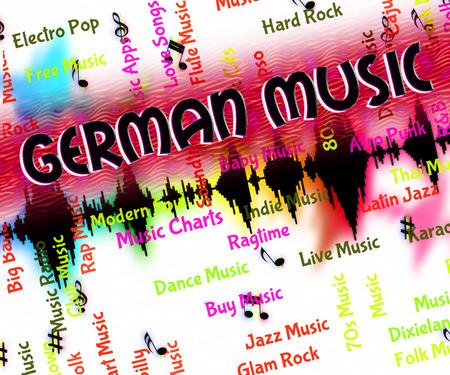 harmonies: German Music Showing Sound Tracks And Harmony Stock Photo
