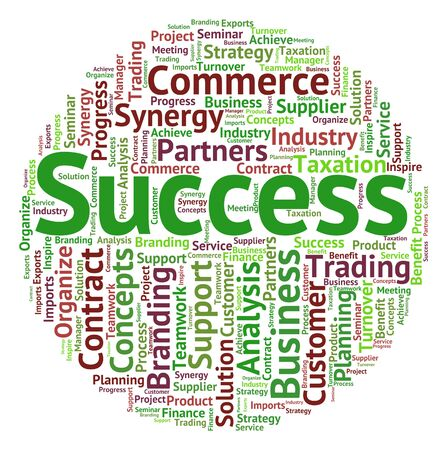 success word: Success Word Showing Triumph Resolution And Victory